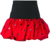 Saint Laurent polka dot mini bubble skirt - women - Silk/Polyamide/Wool - 36