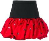 Saint Laurent polka dot mini bubble skirt