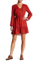 BB Dakota Mayella Ruffled Cutout Shirtdress