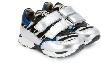 Roberto Cavalli Junior Zebra Print Sneakers