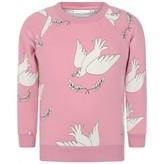 Mini Rodini Mini RodiniGirls Pink Peace Sweater