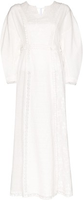 Masterpeace Embroidered Cotton Maxi Dress