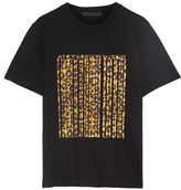 Alexander Wang Printed Cotton-jersey T-shirt - Black