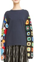 J.W.Anderson Women's Crochet Sleeve Sweater