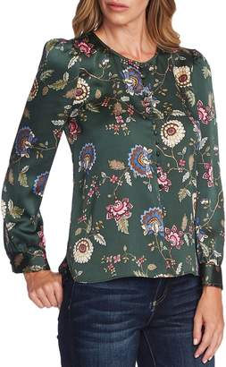 Vince Camuto Floral Puff-Sleeve Top