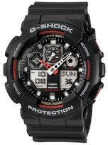 Thumbnail for your product : G-Shock Men's Analog Digital Black Resin Strap Watch GA100-1A4