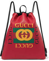 Gucci Printed Textured-leather Backpack
