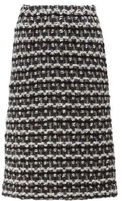 Comme des Garçons Comme des Garçons Tweed Pencil Skirt - Black White
