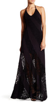 Sky Dounia Lace Panel Halter Maxi Dress