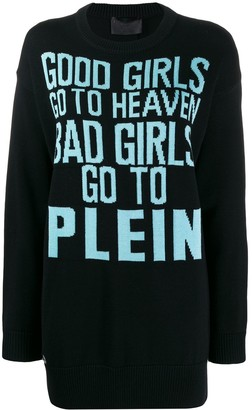 Philipp Plein Good Girls longline jumper