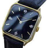 Wittnauer LA100 Gold Plated Stainless Steel & Leather 34mm Watch