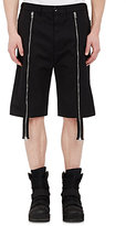 Hood by Air MEN'S TWILL LAYERED SHORTS-BLACK SIZE XL