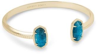 Kendra Scott Elton Gold Cuff Bracelet in Aqua Apatite