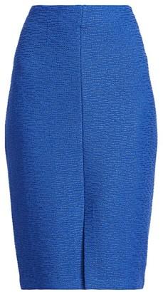 St. John Shantung Ottoman Knit Pencil Skirt