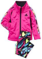 adidas Infant Girls) Two-Piece Tricot Jacket & Leggings Set
