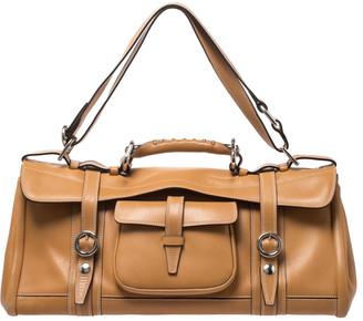 Etro Brown Leather Pocket Shoulder Bag