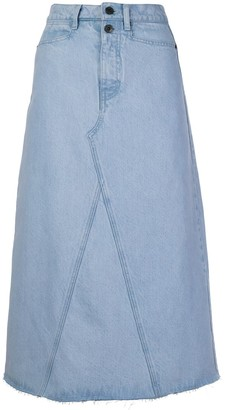 Proenza Schouler White Label A-line denim skirt
