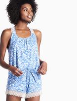 Lucky Brand Lace Trim Soft Knit Pajama Set