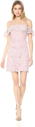 French Connection Women's Fulaga Floral Lace Overlay Off The Shoulder Dress