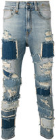 R 13 Extreme Patch Leyton jeans - men - Cotton/Spandex/Elastane - 32