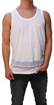 French Connection Men's Reverse Varsity Tank Top Shirt
