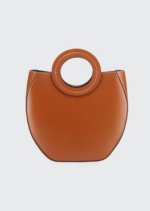 STAUD Frida Ring-Handle PVC/Leather Tote Bag