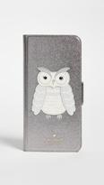 Kate Spade Owl Appliqué Folio iPhone 7 Plus / 8 Plus Case