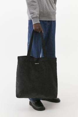 Urban Outfitters Gunmetal Corduroy Tote Bag - Grey ALL at