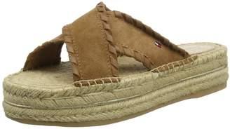 Tommy Hilfiger Women's Interlace Suede Flatform Sandal Platform