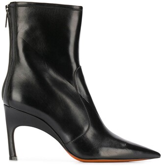 Santoni Pointed Toe Ankle Boots