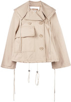 See by Chloe short a-line trench jacket - women - Cotton - 38
