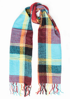 Missy Empire Carla Red Checked Scarf