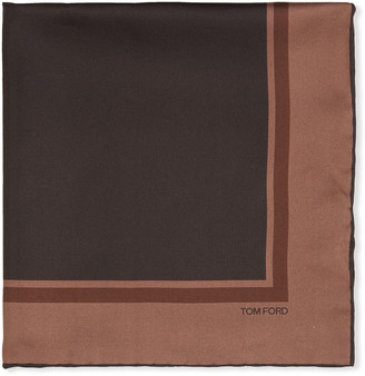 Tom Ford Men's Solid Silk Pocket Square w/ Border