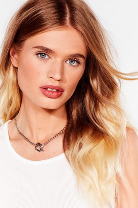 Nasty Gal Womens A Step T-Bar Chain Necklace - Grey - ONE SIZE, Grey