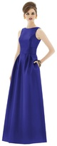 Alfred Sung D661 Bridesmaid Dress in Electric Blue