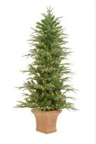 Sterling 4.5' Pre-Lit Potted Frasier Artificial Christmas Tree With Clear Lights