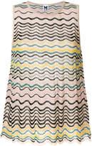 M Missoni wave striped sleeveless blouse