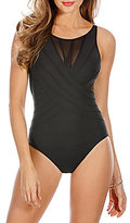 Miraclesuit Illusionists Bandwidth High Neck Underwire Shaping One Piece