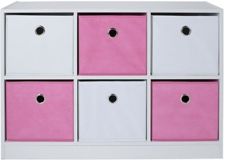 Lloyd Pascal 6 Cube Storage Unit Pink/White