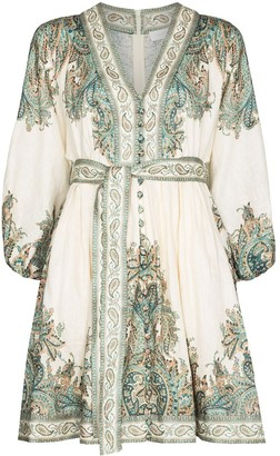 Zimmermann Paisley Print Mini Dress