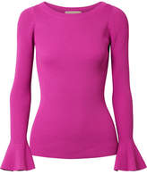 MICHAEL Michael Kors Ribbed-knit Sweater - Magenta