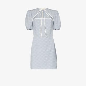Masterpeace Polka Dot Cutout Mini Dress