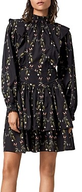 AllSaints Aislyn Ruffled Mini Dress