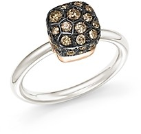 Pomellato Nudo Ring with Brown Diamonds in 18K White and Rose Gold