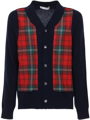 Comme des Garçons Shirt Check Wool Cardigan