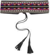 Isabel Marant Embellished Embroidered Cotton And Leather Belt