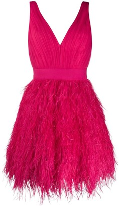 Alice + Olivia Tegan Feather mini dress