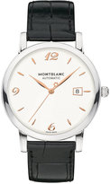 Montblanc Unisex Swiss Automatic Star Classique Black Leather Strap 39mm 110717