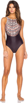 Mara Hoffman High Neck Low Back Swimsuit