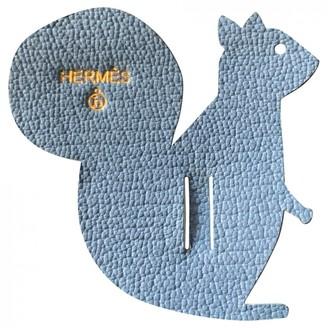 Hermã ̈S HermAs Petit H Blue Leather Bag charms